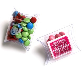 Promotional Product 25gm Choc Beans in pillow pack