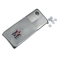 Promotional Product Mints in Silver Slider Tin