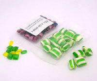 Promotional Product 50gm Corporate Coloured Humbugs in cello bag