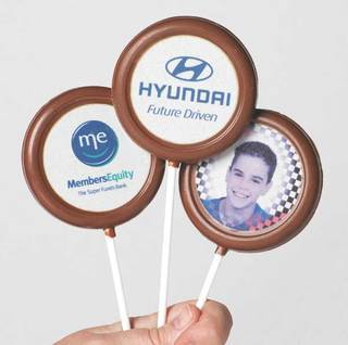 Promotional Product Chocolate Lollipop - milk/dark