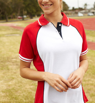 Promotional Product Ladies Panel Polo with piping