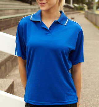 Promotional Product Ladies Striped Polo