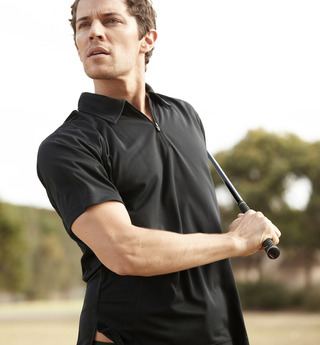 Promotional Product Half Zip Golf Polo