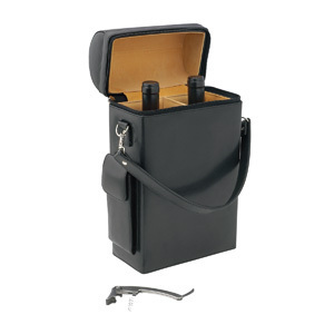 Promotional Product Geneva 2 Bottle Leather Wine Carrier