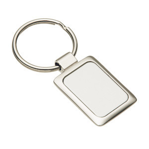 Promotional Product Accent Rectangular Keyring