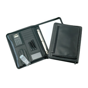 Promotional Product DALLAS DELUXE A4 ZIPPERED COMPENDIUM