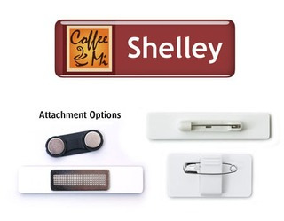 Promotional Product 76mm x 25mm Epoxy Name Badge