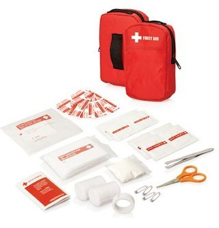 Promotional Product 30pc First Aid Kit - Belt pouch w/front pocket