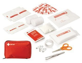 Promotional Product 30pc First Aid Kit - Carry pouch w/front pocket