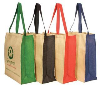 Promotional Product Panelled Jute Carry All