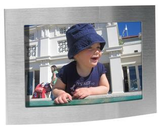 Promotional Product Arc brushed silver photo frame