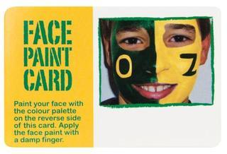 Promotional Product Face paint card