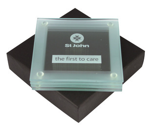 Promotional Product Glass Coaster Set