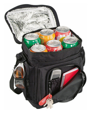 Promotional Product Black Cooler Bag with Silver Insulation