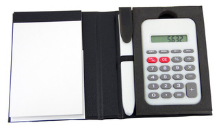 Promotional Product Notepad with Pen & Calculator