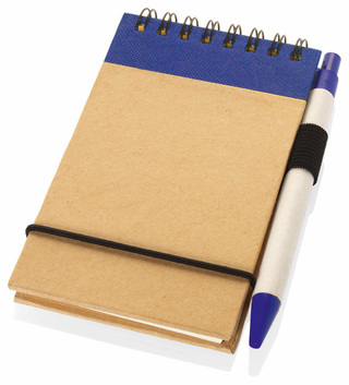 Promotional Product A6 Recycled jotter with pen