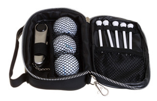 Promotional Product Golf tool, ball and tee set in pouch