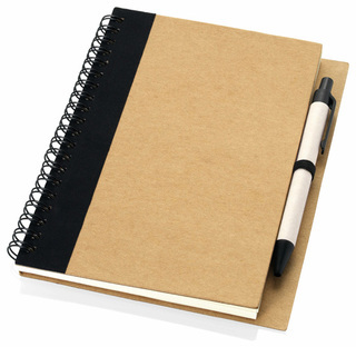 Promotional Product A5 Recycled notebook with pen