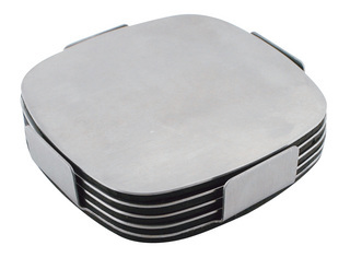 Promotional Product Executive Stainless Steel Coaster Set