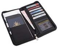 Promotional Product San Remo Leather Travel Wallet