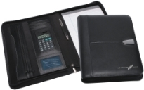 Promotional Product Bradford Leather Calculator Zip Portfolio