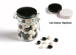 Promotional Product Jelly Beans in Medium Clip Lock Jar 160g