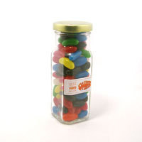 Promotional Product Mixed Colour or Corporate Colour Jelly Beans in Glass Jar