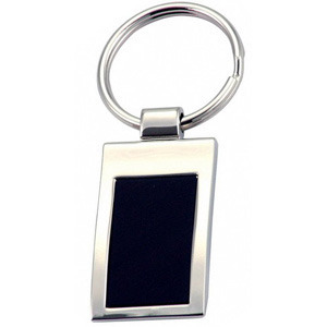 Promotional Product Keyring with black aluminium  plate