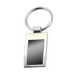 Promotional Product Keyring with shiny back plate