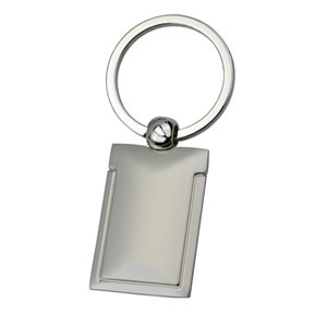Promotional Product Matt Keyring with shiny trim