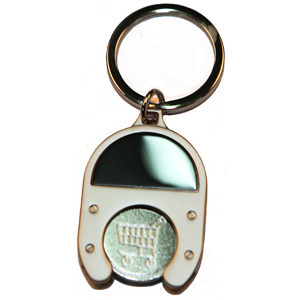 Promotional Product Oval Trolley Token Keyring