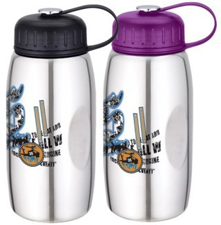 Promotional Product SILVER STAINLESS STEEL SPORT BOTTLE