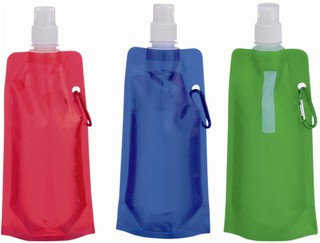 Promotional Product Collapsible Water Bottle with Carabiner
