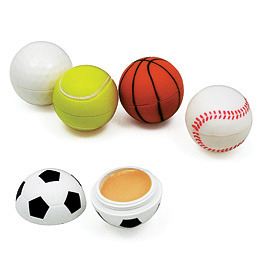 Promotional Product Lipbalm Sports Ball with Natural Zinc Oxide