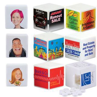 Promotional Product White Cube Breath Mints