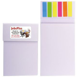 Promotional Product Shimmer Cardboard Notepad / Noteflags