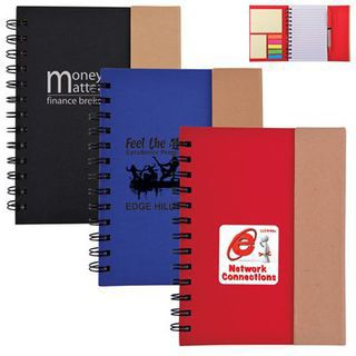 Promotional Product Trek Recyclable Notebook / Noteflags / Pen