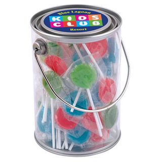 Promotional Product Corporate Colour Lollipops in 1 Litre Drum