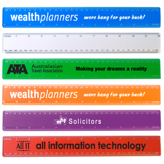 Promotional Product TRANSPARENT 30CM PLASTIC RULER