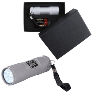 Promotional Product The Tube Silver Aluminium LED Torch