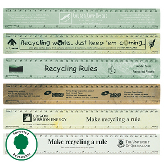 Promotional Product ECHO RULE RECYCLED PLASTIC RULER 30CM