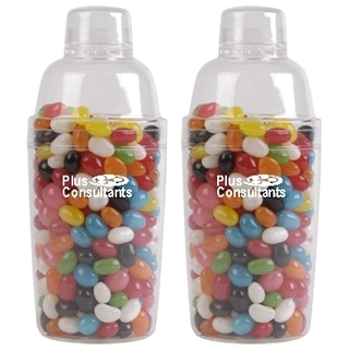 Promotional Product Assorted Colour Jelly Beans in Cocktail Shaker