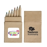 Promotional Product Mini Coloured Pencils In Recycled Cardboard Box