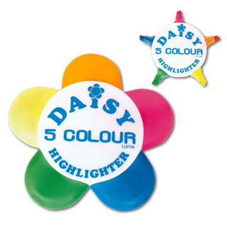 Promotional Product DAISY 5 COLOUR HIGHLIGHT MARKER
