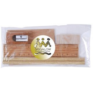 Promotional Product Bamboo Stationery Set in Cello Bag