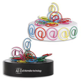 Promotional Product @ SHAPED PAPERCLIPS ON MAGNETIC BASE