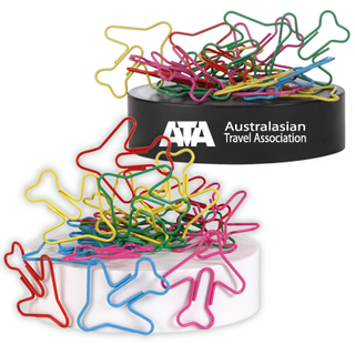 Promotional Product PLANE SHAPED PAPERCLIPS ON MAGNETIC BASE