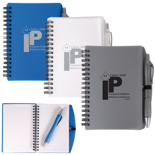 Promotional Product SCRIBE SPIRAL NOTEPAD WITH PEN