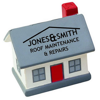 Promotional Product Anti Stress House w/ grey, red or green roof