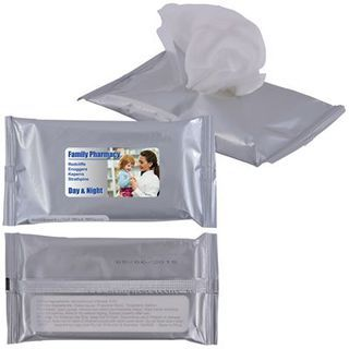 Promotional Product Anti Bacterial Wipes in Pouch x 10